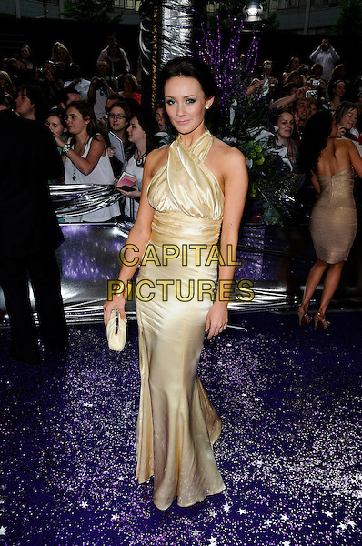 CLAIRE COOPER.of Hollyoaks.Attending the British Soap Awards 2008.BBC Television Centre, Wood Lane, London, England, 3rd May 2008.full length Clare gold dress clutch bag.CAP/CAN.©Can Nguyen/Capital Pictures