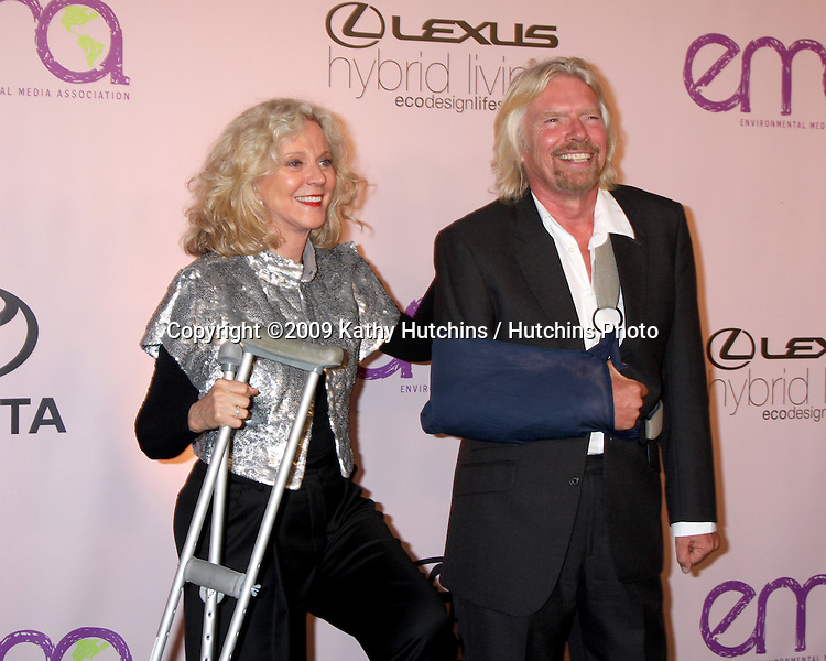 Blythe Danner & Sir Richard Branson.Environmental Media Awards 2009.Paramount Studios.Beverly Hills,  CA.October 25, 2009.©2009 Kathy Hutchins / Hutchins Photo.