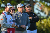 Graeme McDowell (NIR) and Shane Lowry (IRL) wait to tee off on 2 during round 1 of the Arnold Palmer Invitational at Bay Hill Golf Club, Bay Hill, Florida. 3/7/2019.<br /> Picture: Golffile | Ken Murray<br /> <br /> <br /> All photo usage must carry mandatory copyright credit (&copy; Golffile | Ken Murray)