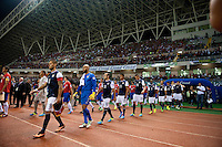 San Jose, Costa Rica - Wednesday, September 6, 2013: The USMNT vs Costa Rica during a WC Qualifying match at Estadio Nacional. The USA lost 3-1.