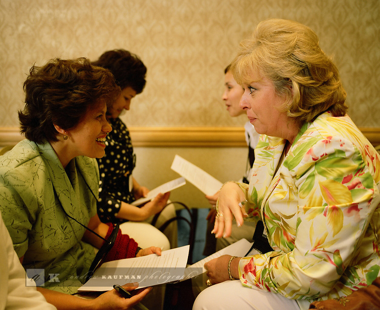 Becky Hunter is the organizer of the Global Pastors' Wives Network. Pastors' wives find friendship and support during the annual meeting of the Global Pastors' Wives Network, Orlando, Florida 2007. The Global Pastors' Wives Network is also an online community. The web has allowed pastor's wives to share their experiences and give each other immediate and constant support.