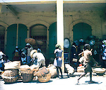 Busy market Images of the capital,Port au Prince, Haiti 1975