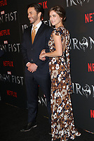www.acepixs.com<br /> <br /> March 15 2017, New York City<br /> <br /> Tom Pelphrey and Jessica Stroup arriving at a screening of Marvel's 'Iron Fist' at the AMC Empire 25 on March 15, 2017 in New York City. <br /> <br /> By Line: Nancy Rivera/ACE Pictures<br /> <br /> <br /> ACE Pictures Inc<br /> Tel: 6467670430<br /> Email: info@acepixs.com<br /> www.acepixs.com