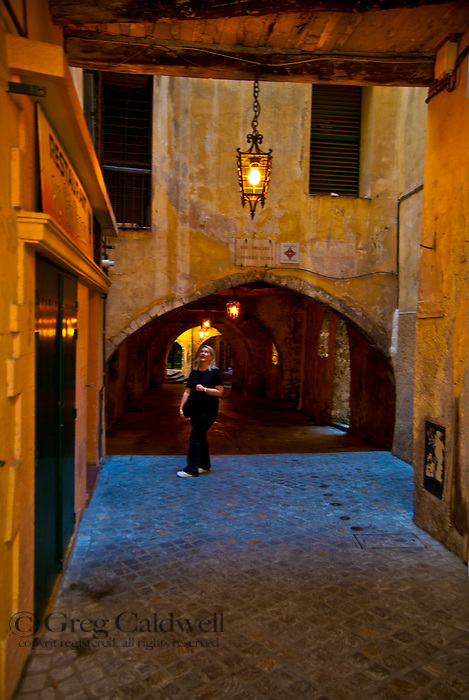 Rue Obscure is a short tunnel that was once a street in beautiful Villefranche Sur Mer.  Both the waterfront town and it's Rue Obscure can transport the visitor to a time in history. Rue Obscure is unique in itself but fits perfectly into every emotion the town has to offer.  Villefranche is a portal for your imagination and if it needs a kick start then start with Rue Obscure just up from Hotel Welcome.
