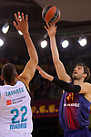 Turkish Airlines Euroleague 2017/2018.<br /> Regular Season - Round 23.<br /> FC Barcelona Lassa vs R. Madrid: 74-101.<br /> Victor Tavares vs Ante Tomic.