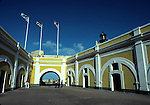 Patio in El Morro Castle in San Juan NHS