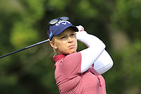 Morgan Pressel (USA) tees off the 5th tee during Friday's Round 2 of The Evian Championship 2018, held at the Evian Resort Golf Club, Evian-les-Bains, France. 14th September 2018.<br /> Picture: Eoin Clarke | Golffile<br /> <br /> <br /> All photos usage must carry mandatory copyright credit (&copy; Golffile | Eoin Clarke)