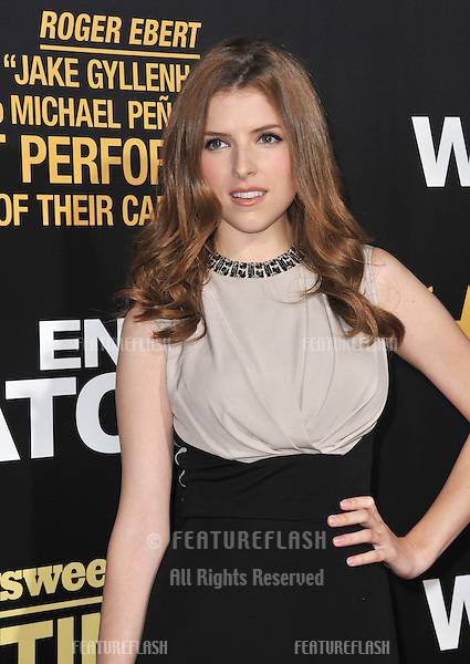 "Anna Kendrick at the premiere of her movie ""End of Watch"" at the Regal Cinemas LA Live..September 17, 2012  Los Angeles, CA.Picture: Paul Smith / Featureflash"
