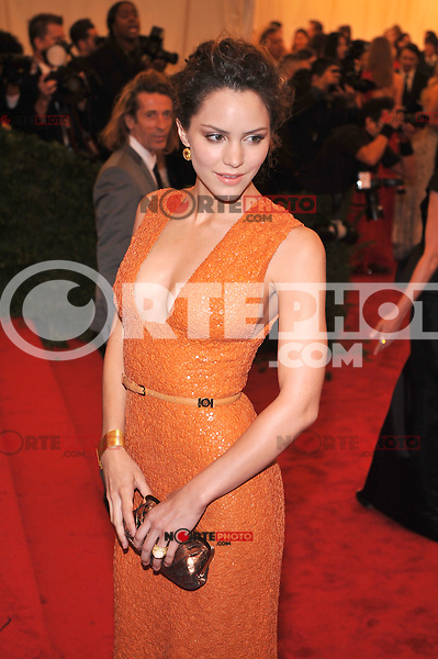 Katharine McPhee at the 'Schiaparelli And Prada: Impossible Conversations' Costume Institute Gala at the Metropolitan Museum of Art on May 7, 2012 in New York City. ©mpi03/MediaPunch Inc.