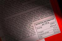 Informazioni nutrizionali sulle etichette degli alimenti. Nutrition information on food labels...