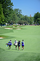 Michelle Wie (USA) and So Yeon Ryu (KOR) make their way down number one during Sunday's final round of the 2017 KPMG Women's PGA Championship, at Olympia Fields Country Club, Olympia Fields, Illinois. 7/2/2017.<br /> Picture: Golffile | Ken Murray<br /> <br /> <br /> All photo usage must carry mandatory copyright credit (&copy; Golffile | Ken Murray)