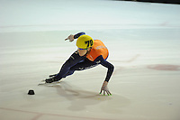 SHORTTRACK: AMSTERDAM: 05-01-2014, Jaap Edenbaan, NK Shorttrack, 1000m, Jorien ter Mors (#70), ©foto Martin de Jong