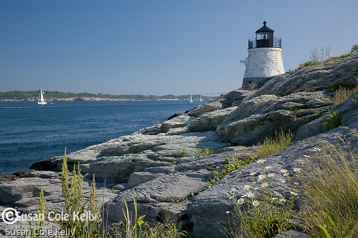 Castle Hill Light, Narragansett Bay, Newport,  RI, USA