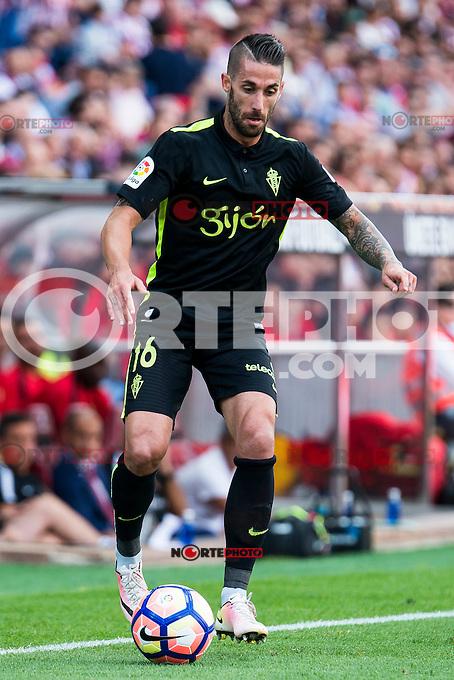 "Sporting de Gijon's Manuel ""Lillo"" Castellano during a match of La Liga Santander at Vicente Calderon Stadium in Madrid. September 17, Spain. 2016. (ALTERPHOTOS/BorjaB.Hojas) /NORTEPHOTO"