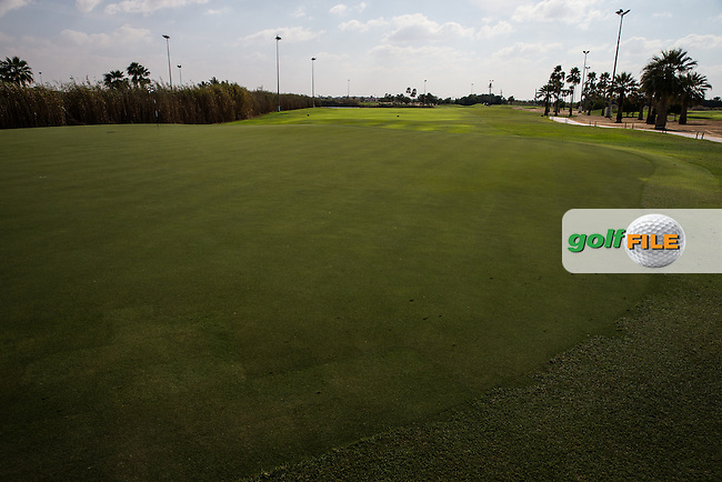 7th green, The Track at The Meydan Golf Club, Dubai, United Arab Emirates.  31/01/2016. Picture: Golffile | David Lloyd<br /> <br /> All photos usage must carry mandatory copyright credit (&copy; Golffile | David Lloyd)
