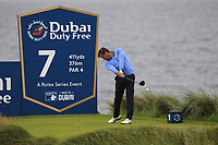 Robert Rock (ENG) on the 7th tee during Round 2 of the Irish Open at LaHinch Golf Club, LaHinch, Co. Clare on Friday 5th July 2019.<br /> Picture:  Thos Caffrey / Golffile<br /> <br /> All photos usage must carry mandatory copyright credit (© Golffile | Thos Caffrey)