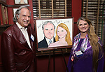 Stewart F. Lane and Bonnie Comley attend the UMass Lowel Cockail Party for 'Sunset Boulevard' hosted by Chancellor Jacquie Moloney, Bonnie Comley and Stewart F. Lane at Sardi's on April 5, 2017 in New York City