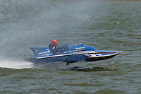 "Tom & Jac Bertolini, N-8 ""Country Boy"", 1971 Lauterbach 225 class hydroplane..2004 Madison Regatta, Madison, Indiana, July 4, 2004..F. Peirce Williams .photography.P.O.Box 455 Eaton, OH 45320.p: 317.358.7326  e: fpwp@mac.com."