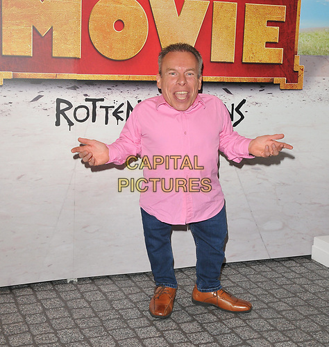 """Warwick Davis at the """"Horrible Histories: The Movie - Rotten Romans"""" world film premiere, Odeon Luxe Leicester Square, Leicester Square, London, England, UK, on Sunday 07th July 2019.<br /> CAP/CAN<br /> ©CAN/Capital Pictures"""