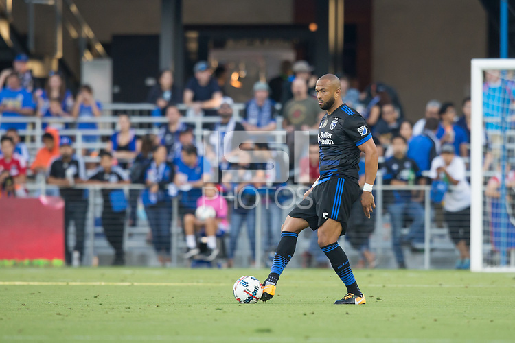 San Jose, CA - July 14, 2017: San Jose Earthquakes vs Eintracht Frankfurt during an international friendly at Avaya Stadium.