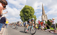 Picture by Alex Whitehead/SWpix.com - 10/09/2014 - Cycling - 2014 Friends Life Tour of Britain - Stage 4, Worcester to Bristol - Omega Pharma-Quick Step's Julien Vermote in action near Painswick during Stage 4.