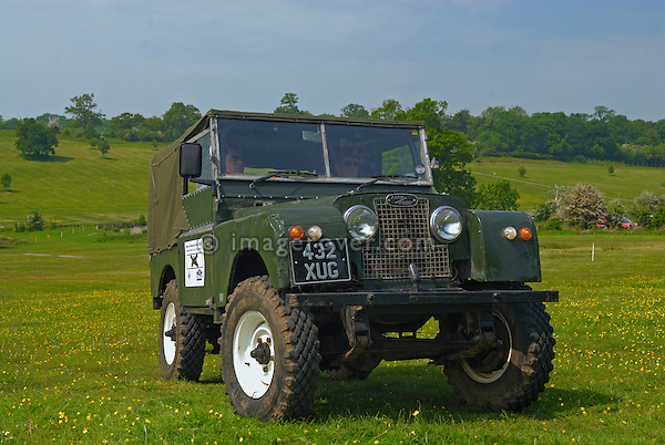 Land Rover Series 1 based off-road racer at the ALRC National 2008. The Association of Land Rover Clubs (ALRC) National Rallye is the biggest annual motor sport oriented Land Rover event and was hosted 2008 by the Midland Rover Owners Club at Eastnor Castle in Herefordshire, UK, 22 - 27 May 2008. --- No releases available. Automotive trademarks are the property of the trademark holder, authorization may be needed for some uses.