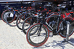 Nippo-Vini Fantini-Faizane team De Rosa bikes lined up outside the team bus before Stage 1 of the 2019 Giro d'Italia, an individual time trial running 8km from Bologna to the Sanctuary of San Luca, Bologna, Italy. 11th May 2019.<br /> Picture: Eoin Clarke | Cyclefile<br /> <br /> All photos usage must carry mandatory copyright credit (© Cyclefile | Eoin Clarke)