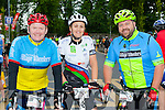 Minister of State Paudie Coffey with Suzanne Coffey and Tom Russell at the start of the Ring of Kerry cycle in Killarney on Saturday morning