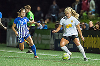 Allston, MA - Saturday Sept. 24, 2016: Brooke Elby, Abigail Dahlkemper during a regular season National Women's Soccer League (NWSL) match between the Boston Breakers and the Western New York Flash at Jordan Field.