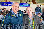 Jerry Foran and Thomas Dillon, St Senans Kerry supporters for the double header in Portlaoise on Saturday.