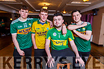 """Nathan Dineen, Gerard Leen, Adam Guerin and Darren Barrett who will taking part in the Kerry Camogie """"Stars in their Eyes"""" fundraiser."""