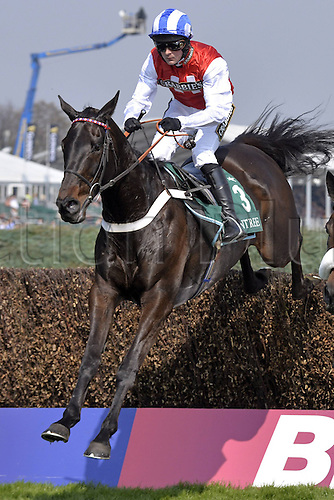 09.04.2015, Aintree, Liverpool, England. Josses Hill with Nicolai William de Boinville up. Aintree racecourse.