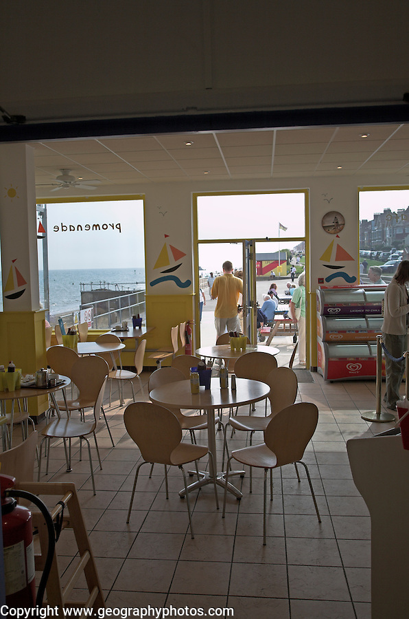 Cafe on Southwold Pier, Suffolk, England