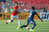 4th February 2020; National Stadium of Chile, Santiago, Chile; Libertadores Cup, Universidade de Chile versus Internacional; Rodinei of Internacional  breaks forward