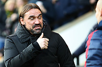 1st December 2019; Carrow Road, Norwich, Norfolk, England, English Premier League Football, Norwich versus Arsenal; Norwich City Manager Daniel Farke - Strictly Editorial Use Only. No use with unauthorized audio, video, data, fixture lists, club/league logos or 'live' services. Online in-match use limited to 120 images, no video emulation. No use in betting, games or single club/league/player publications