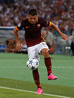 Calcio, Champions League, Gruppo E: Roma vs Barcellona. Roma, stadio Olimpico, 16 settembre 2015.<br /> Roma&rsquo;s Iago Falque in action during a Champions League, Group E football match between Roma and FC Barcelona, at Rome's Olympic stadium, 16 September 2015.<br /> UPDATE IMAGES PRESS/Riccardo De Luca<br /> <br /> *** ITALY AND GERMANY OUT ***