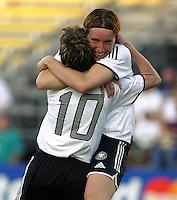 Germany celebrates win over Canada. 2003WWC Germany v Canada.