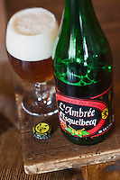 Europe/France/Nord-Pas-de-Calais/59/Nord/ Esquelbecq:  Ambrée d' Esquelbecq, Bière  de Daniel Thiriez à l'estaminet de la brasserie artisanale