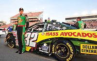 May 2, 2008; Richmond, VA, USA; NASCAR Nationwide Series driver Kyle Busch prior to the Lipton Tea 250 at the Richmond International Raceway. Mandatory Credit: Mark J. Rebilas-