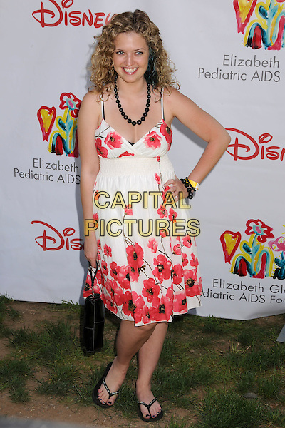 "LAUREN STORM.""A Time For Heroes"" Celebrity Carnival Benefit for the Elizabeth Glaser Pediatric AIDS Foundation at the Wadsworth Fairgrounds, Los Angeles, California, USA..June 8th, 2008.full length pink white floral print dress hand on hip .CAP/ADM/BP.©Byron Purvis/AdMedia/Capital Pictures."