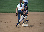 30 MAY 2016: Kaylee Prather (4) of University of Texas-Tyler rounds second base on her triple against Messiah College during the Division III Women's Softball Championship held at the James I Moyer Sports Complex in Salem, VA.  University of Texas-Tyler defeated Messiah College 7-0 for the national title. Don Petersen/NCAA Photos