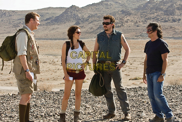 WILL FERRELL, ANNA FRIEL, DANNY MCBRIDE & BRAD SILBERLING (director) .on the set of Land of the Lost.*Filmstill - Editorial Use Only*.CAP/FB.Supplied by Capital Pictures.