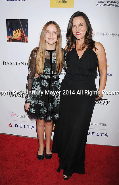 SANTA MONICA, CA- OCTOBER 26: Actress Gia Carides (R) and daughter Bridget Carides-LaPaglia attend the 3rd Annual Australians in Film Awards Benefit Gala at the Fairmont Miramar Hotel on October 26, 2014 in Santa Monica, California.