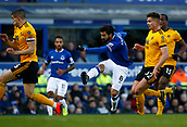 2nd February 2019, Goodison Park, Liverpool, England; EPL Premier League Football, Everton versus Wolverhampton Wanderers; Andre Gomes of Everton  scores his side's first goal with a shot after 27 minutes to make the score 1-1
