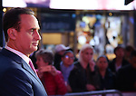 Jose Diaz-Balart telecasts live for Telemundo in Times Square on November 16, 2016 in New York City.