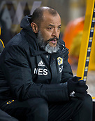 11th February 2019, Molineux, Wolverhampton, England; EPL Premier League football, Wolverhampton Wanderers versus Newcastle United; Wolverhampton Wanderers Manager Nuno Espirito Santo in the team dug out before the kick off