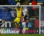 Jamal Blackman of Sheffield Utd collects the high ball during the Championship match at the Macron Stadium, Bolton. Picture date 12th September 2017. Picture credit should read: Simon Bellis/Sportimage