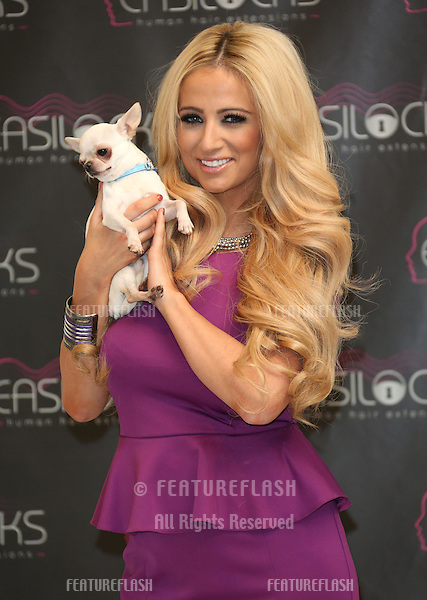 Chantelle Houghton launches Easilocks extensions at the Worx Studios, London. 05/12/2012 Picture by: Henry Harris / Featureflash