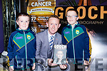 Fionan and Cormac O'Sullivan Beaufort with Colm Cooper at the launch of Gooch The Autobiography in the Gleneagle Hotel on Thursday evening