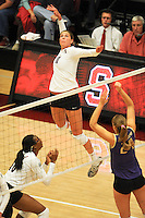 STANFORD, CA - OCTOBER 31: Alix Klineman of the Stanford Cardinal during Stanford's 25-22, 25-23, 25-18 win against the Washington Huskies on October 31, 2008 at Maples Pavilion in Stanford, California.
